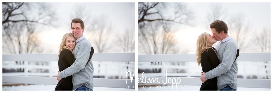 winter engagement session in country Victoria MN Engagement and Wedding Photographer