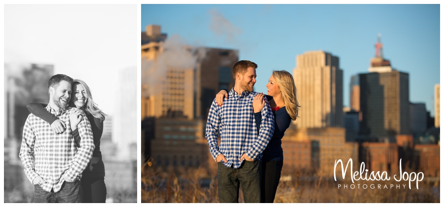 sweet St. Paul Winter Engagement Session with Wedding and Engagement Photographer Victoria MN