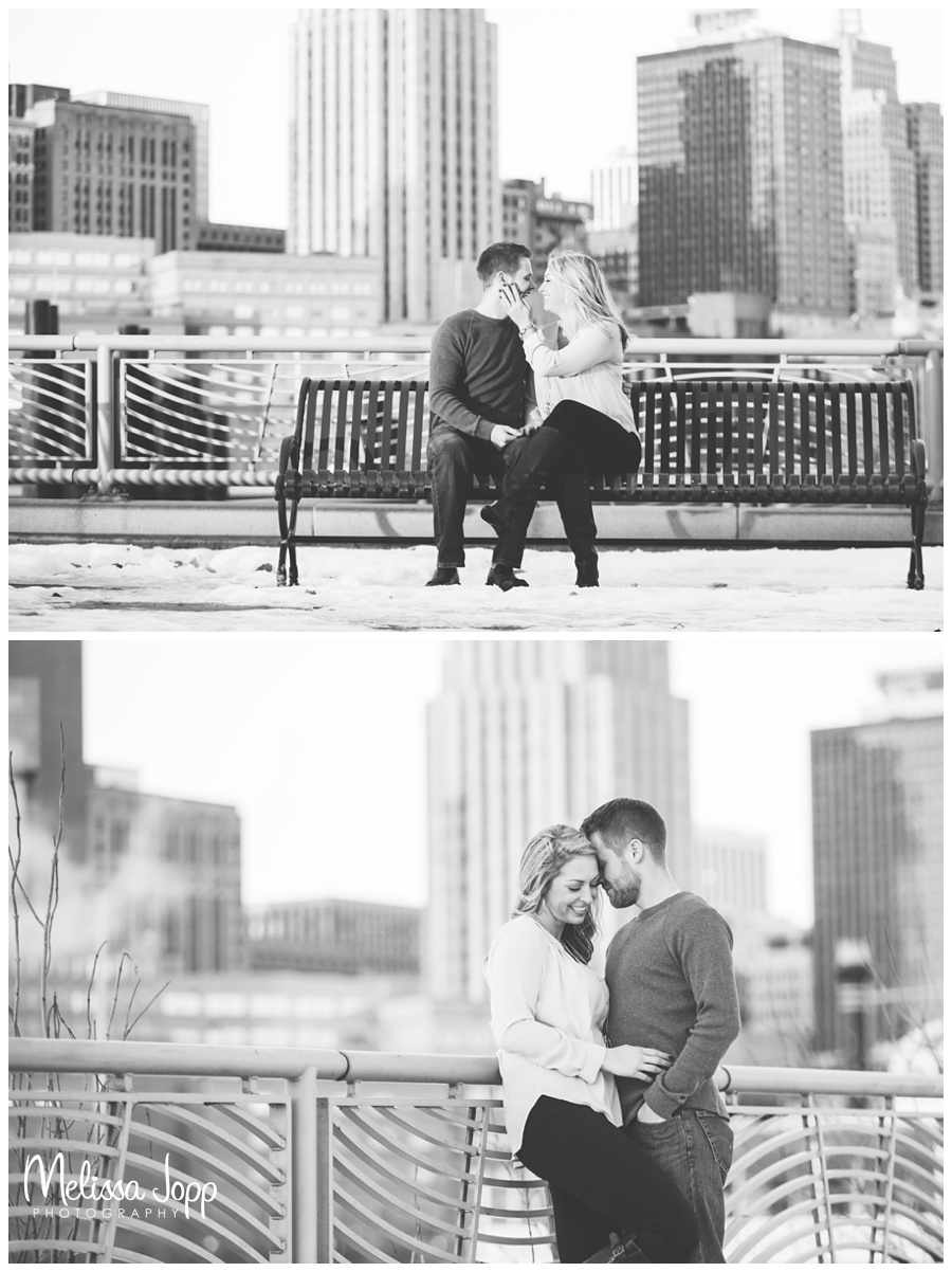St. Paul Winter Engagement Session with Wedding and Engagement Photographer Victoria MN