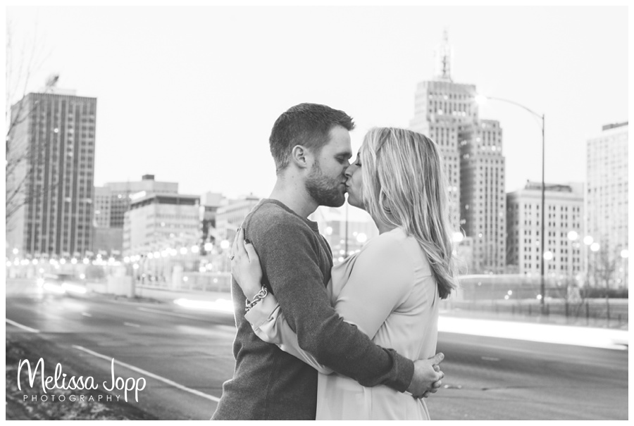 St. Paul freezing time Engagement Shot with Wedding and Engagement Photographer Victoria MN