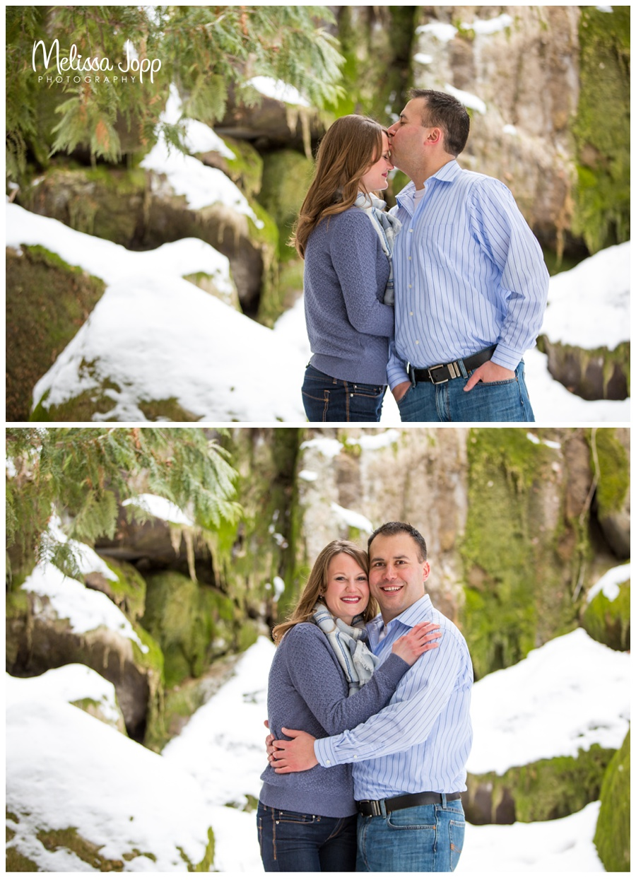 snowy engagement session with chanhassen mn wedding and engagement photographer
