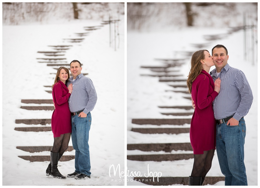 snowy engagement session with chanhassen mn wedding photographer