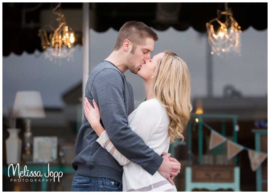 romantic engagement photo with victoria mn wedding and engagement photographer