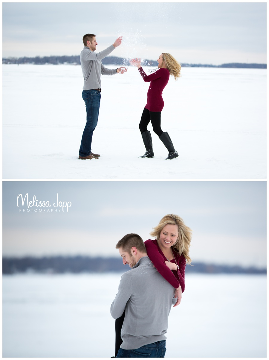 winter fun engagement session in buffalo mn with victoria mn wedding and engagement photographer