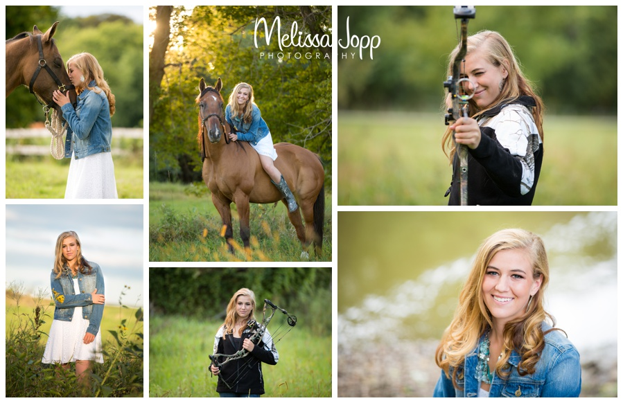 summer senior portrait session with horse with mayer lutheran high school  mn senior photographer