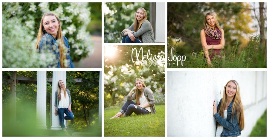 summer senior portrait session in flower garden  with victoria mn senior photographer