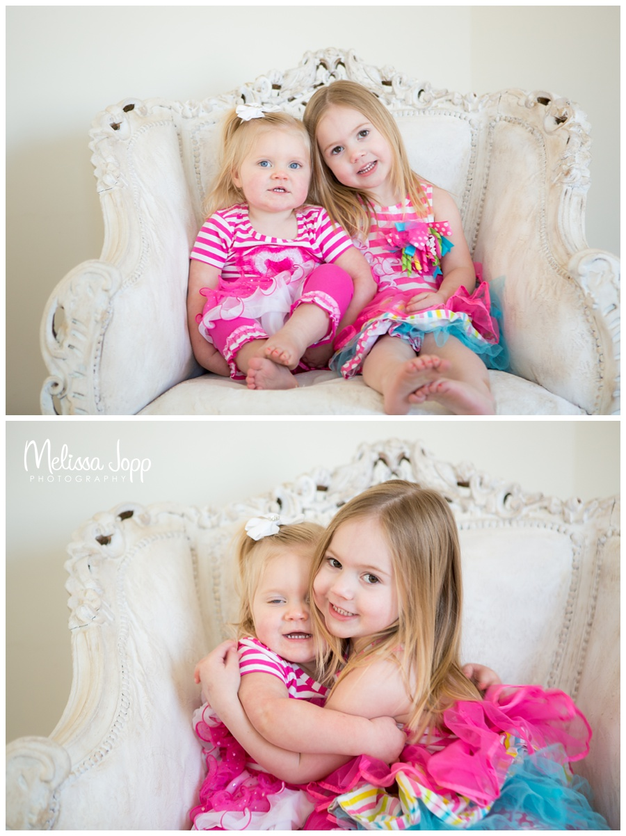 sister love pretty in pink child session with family photographer in victoria mn