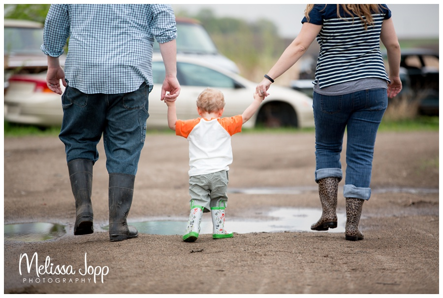 rain boots in spring with waconia mn portrait photographer