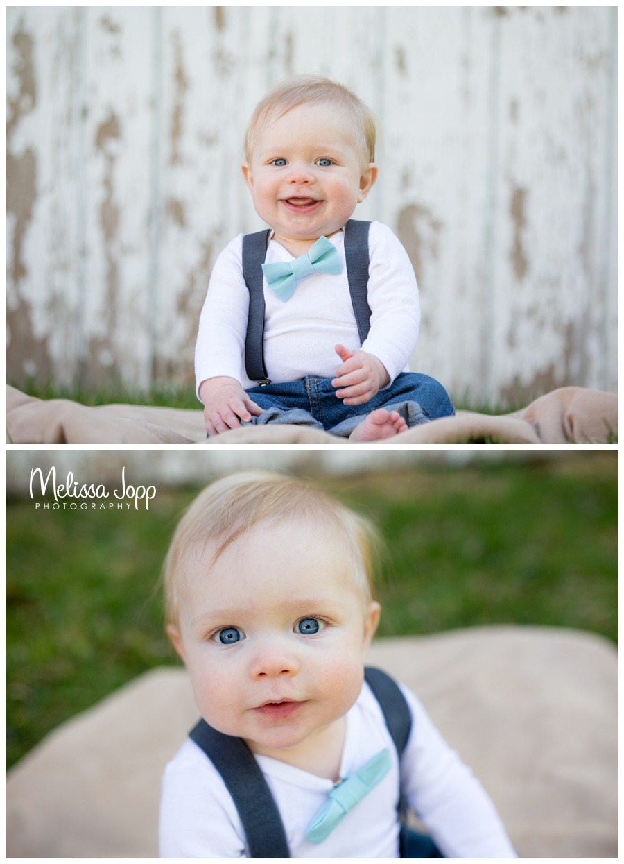country baby photos with bow tie and suspenders mayer mn baby pictures