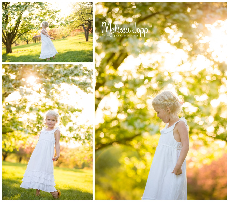 Spring picture session with apple blossoms mayer mn photographer
