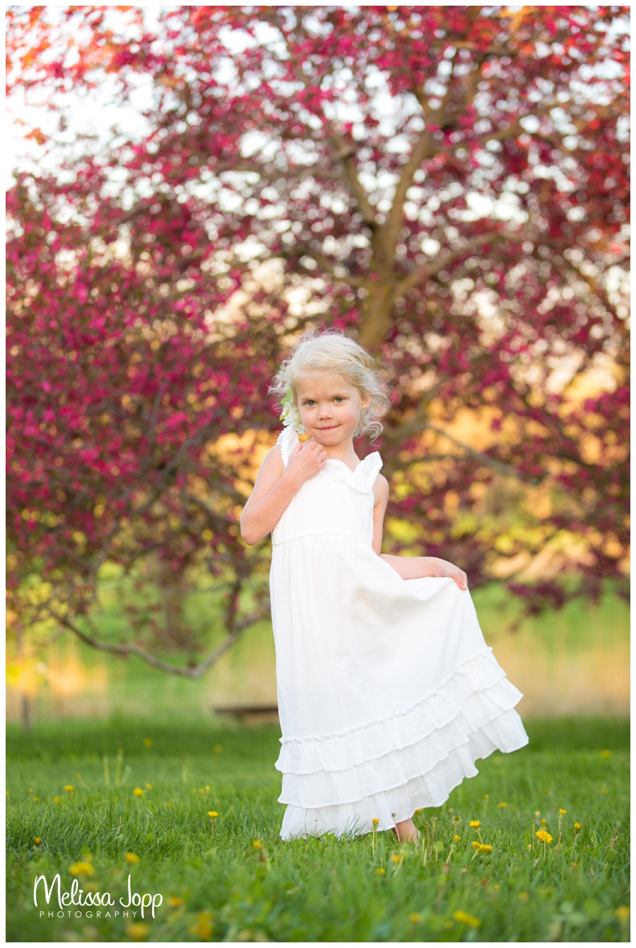 apple blossom and child pictures in chanhassen mn