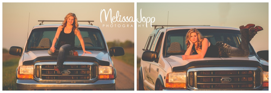 senior pictures of a girl and her truck with mayer mn photographer