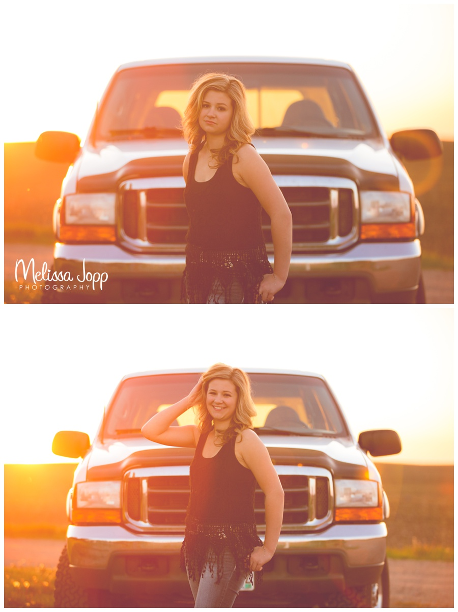 sun flare truck senior pictures with waconia mn photographer