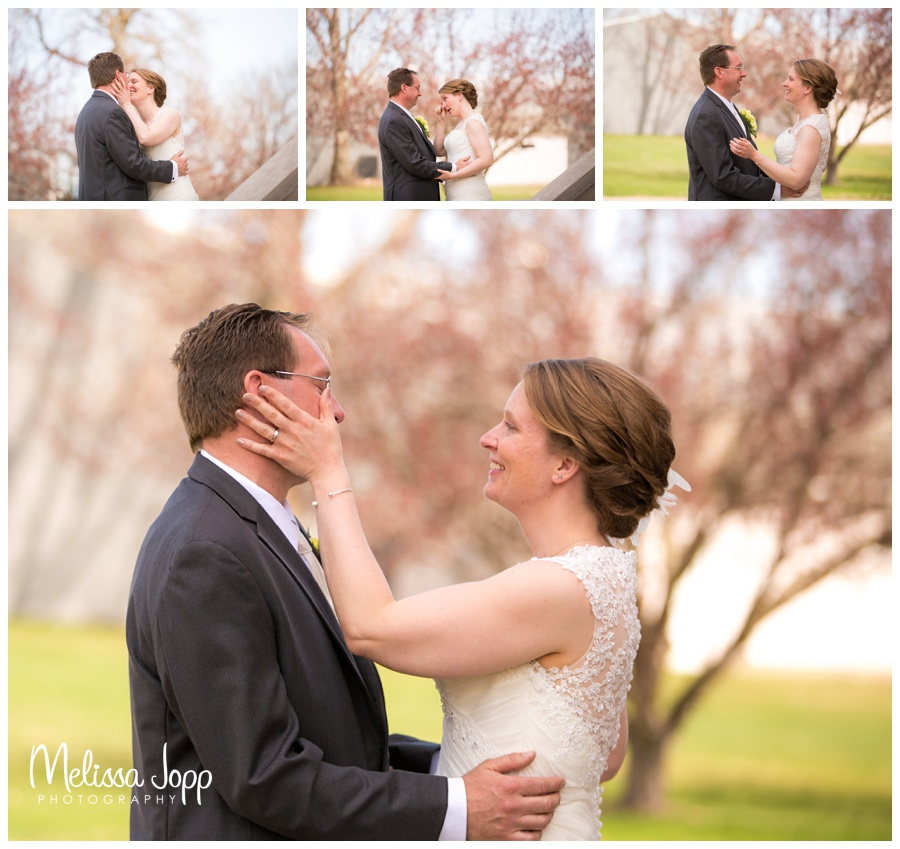 first look precious moments mn wedding photographer