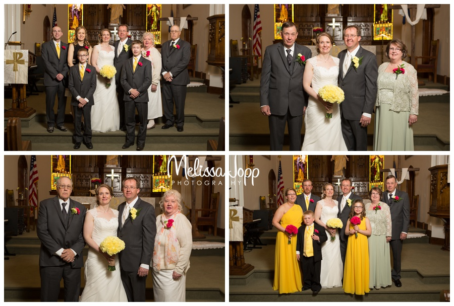 formal church pictures with wedding party mn wedding photographer