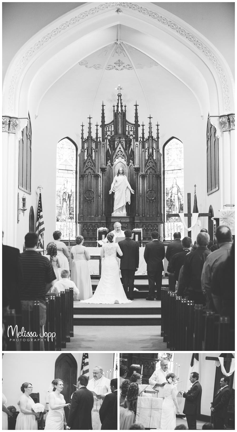 beautiful church shot wedding photographer in mn