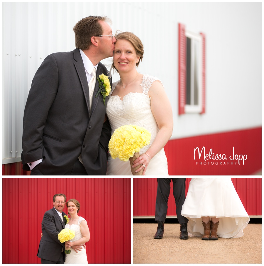 farm pictures with bride and groom mn wedding photographer victoria mn