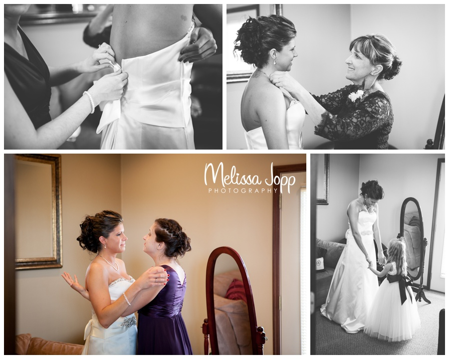 getting ready pictures spring winery wedding hutchinson mn