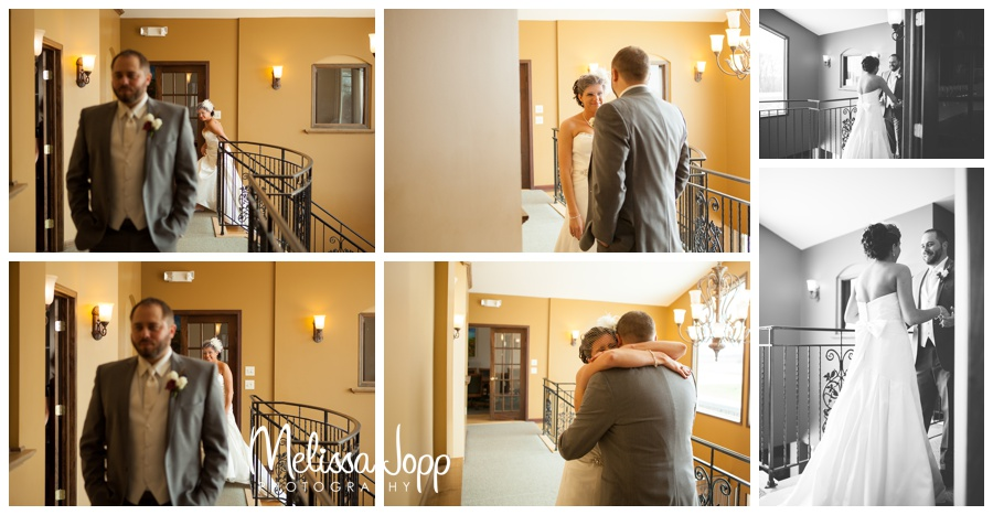 inside first look pictures with mn wedding photographer