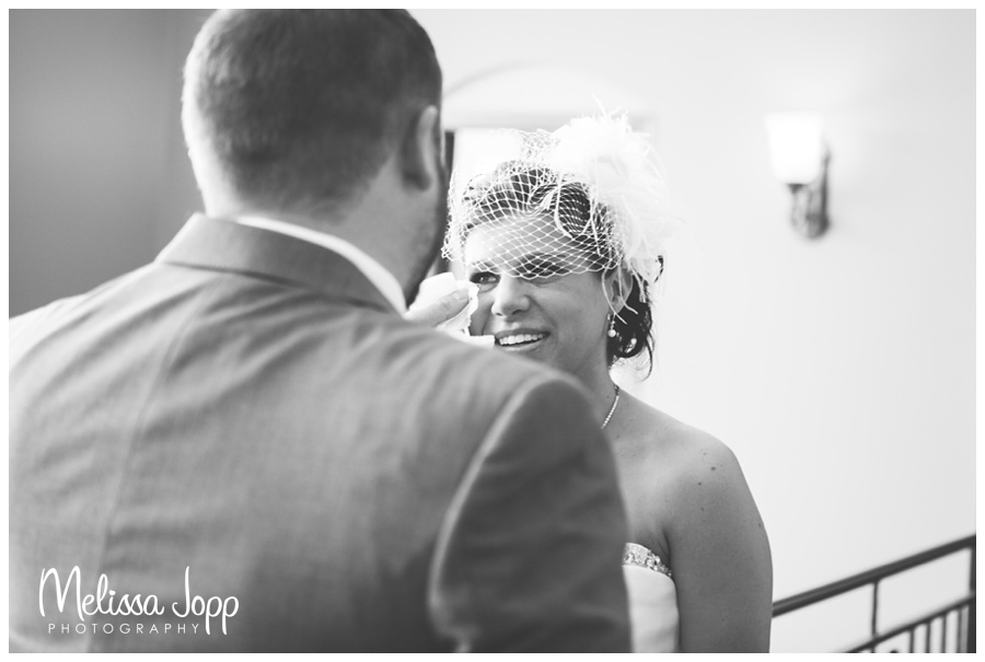 first look with a tear hutchinson mn wedding photographer