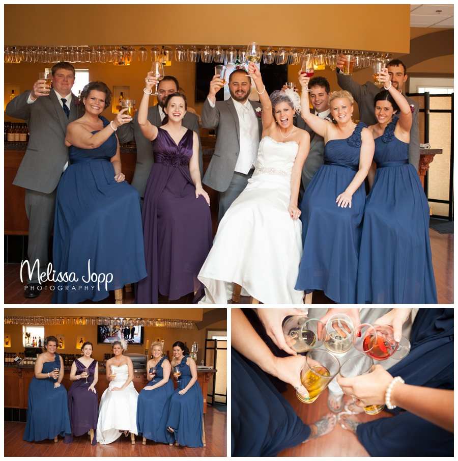 mayer mn wedding photographer bridal party at crow river winery