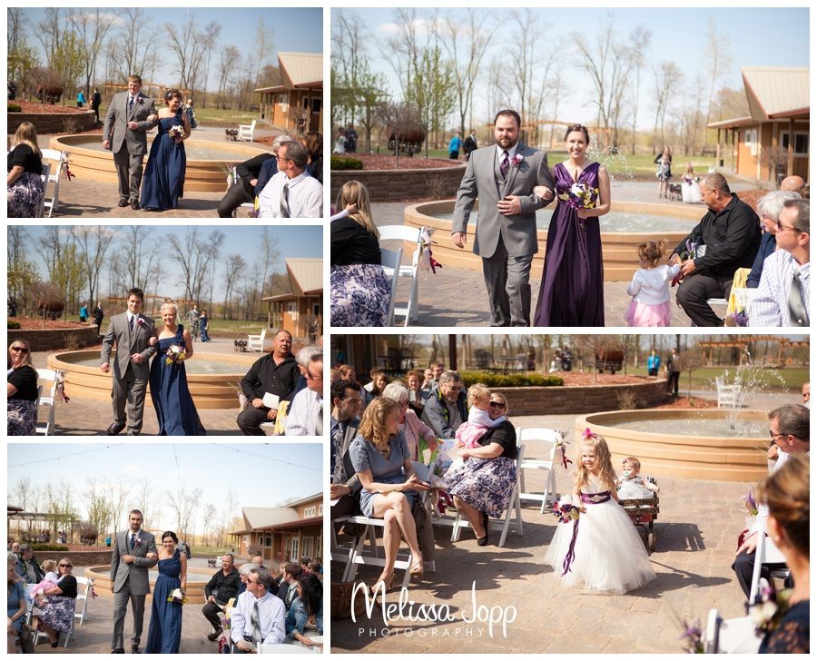 outdoor ceremony at winery with mn wedding photographer