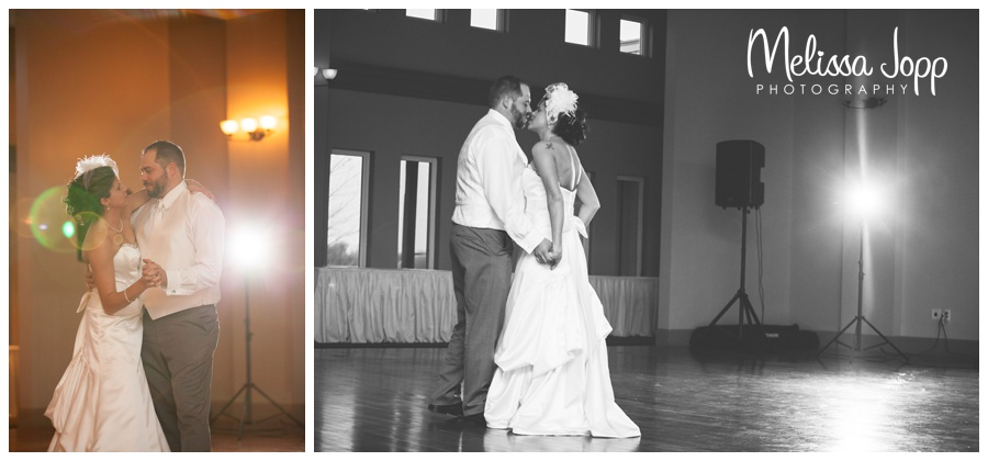 first dance with bride and groom mn wedding photographer