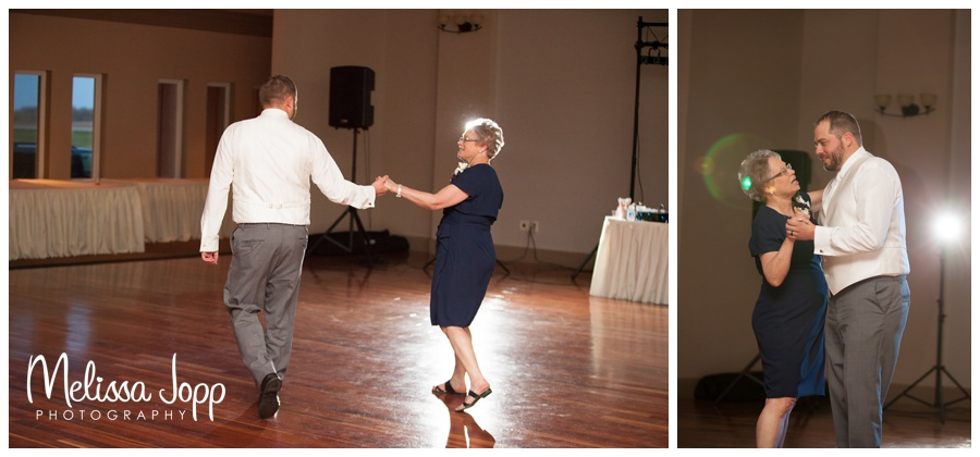 mother son dance wedding pictures in hutchinson mn