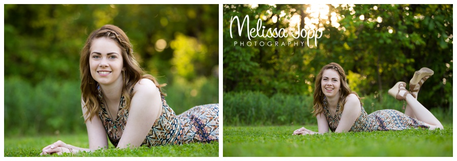 chanhassen mn senior pictures  by the lake with Melissa Jopp Photography