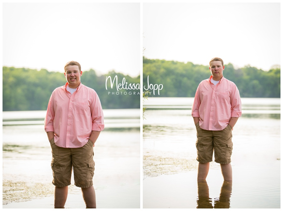 senior pictures by the lake in chanhassen mn