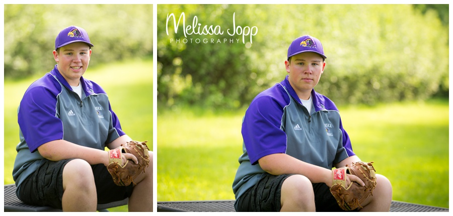 chaska high school senior pictures with baseball gear