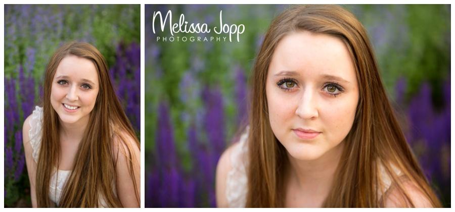 female senior pictures in flower garden with mn senior photographer in chaska mn