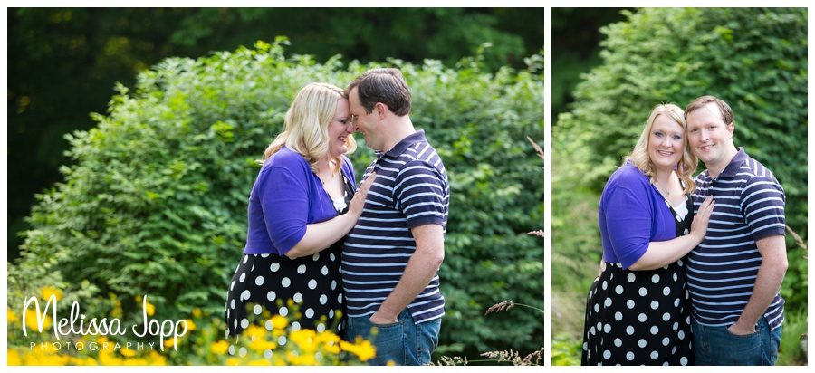 flower garden engagement session with chaska mn engagement photographer