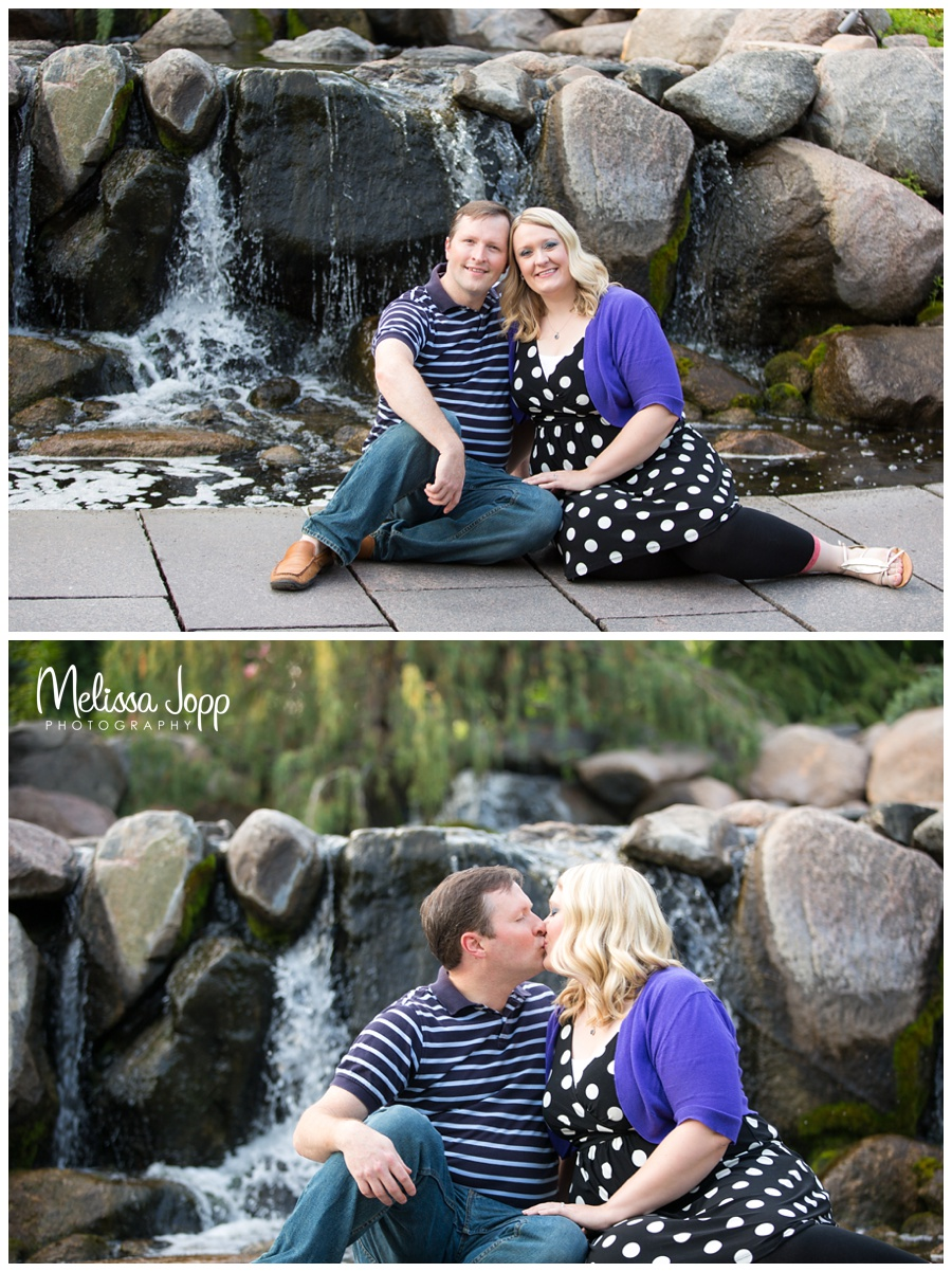 engagement session with waterfalls mn wedding photographer