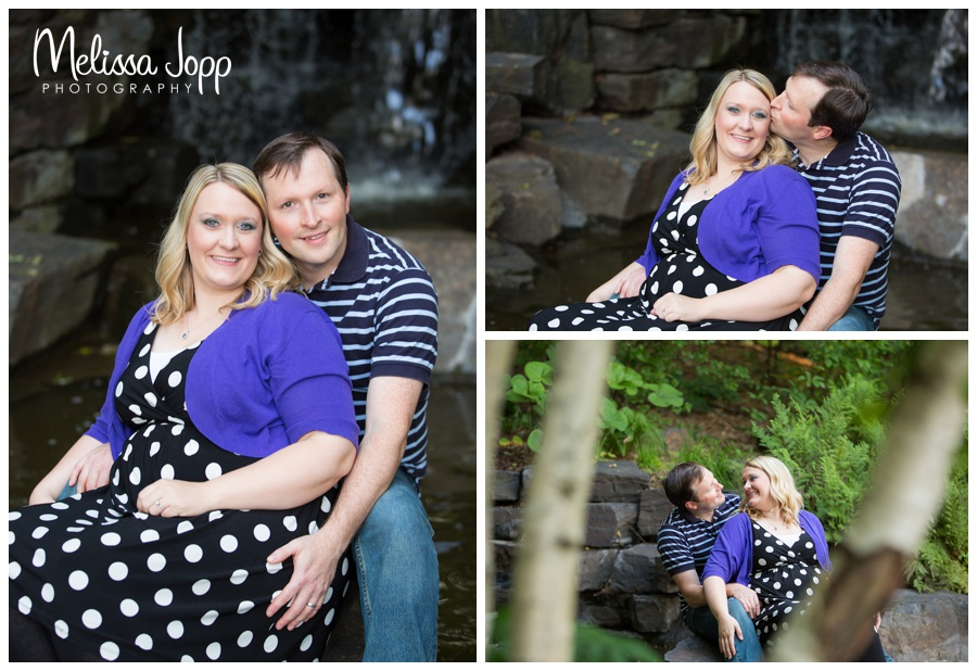 waterfall engagement pictures mn wedding photographer