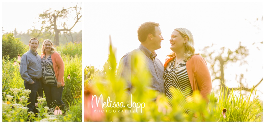 engagement pictures in wildflowers