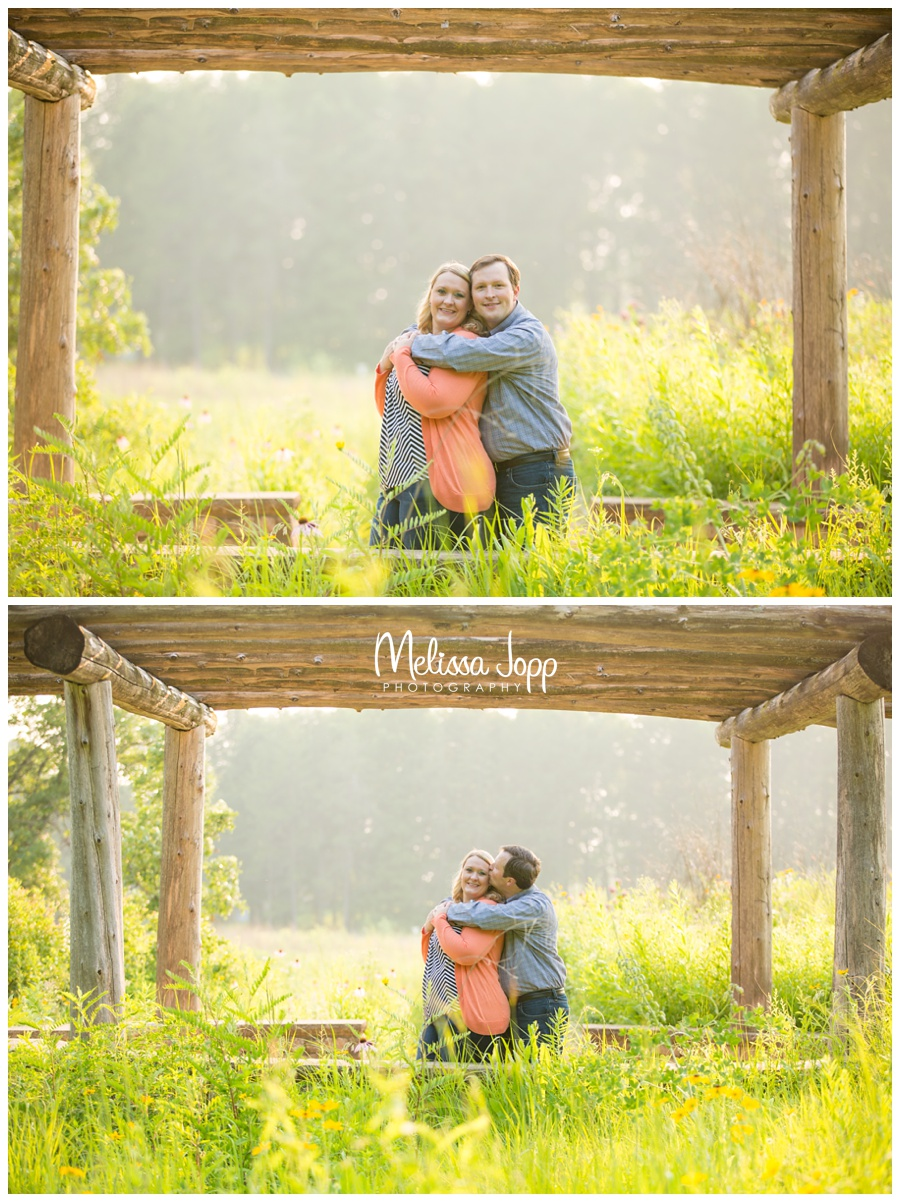 engagement pictures in the wildflowers with chaska mn photographer