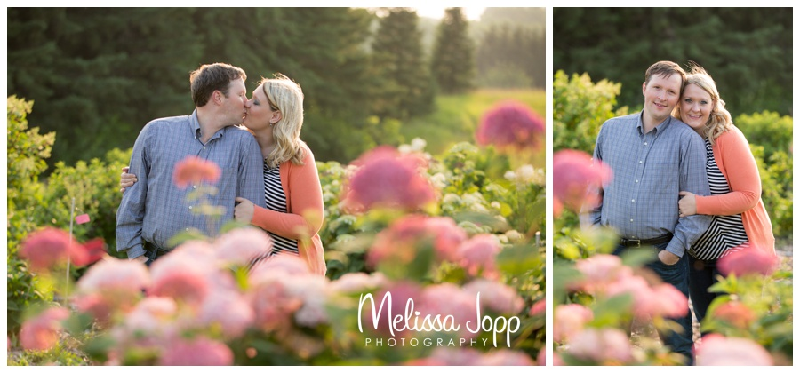 engagement photographer chaska mn engagment pictures in the flower garden