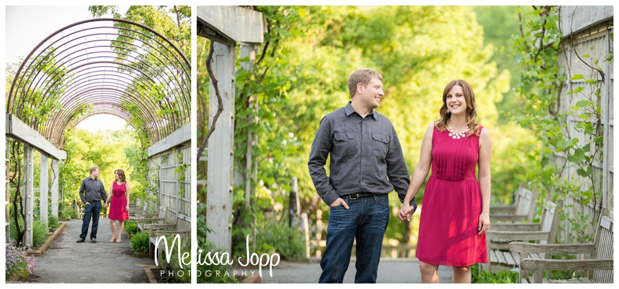 engagement pictures where woman is wearing magenta melissa jopp photography