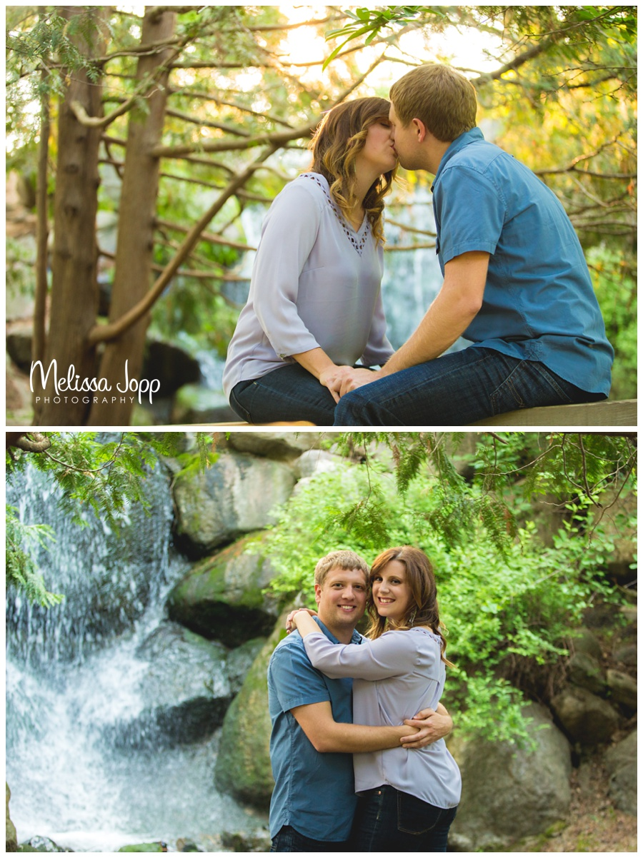 engagement pictures with waterfall melissa jopp photography chaska mn