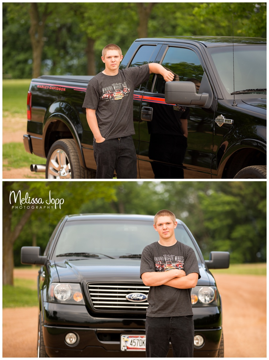 senior pictures with truck in norwood mn