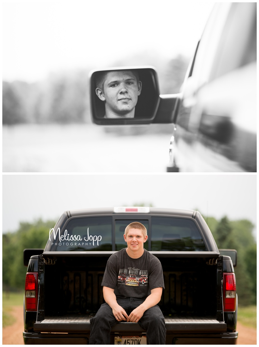 Senior pictures with truck in MN