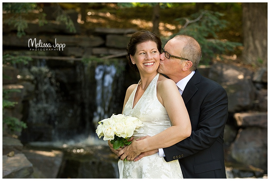 wedding pictures with waterfall mn