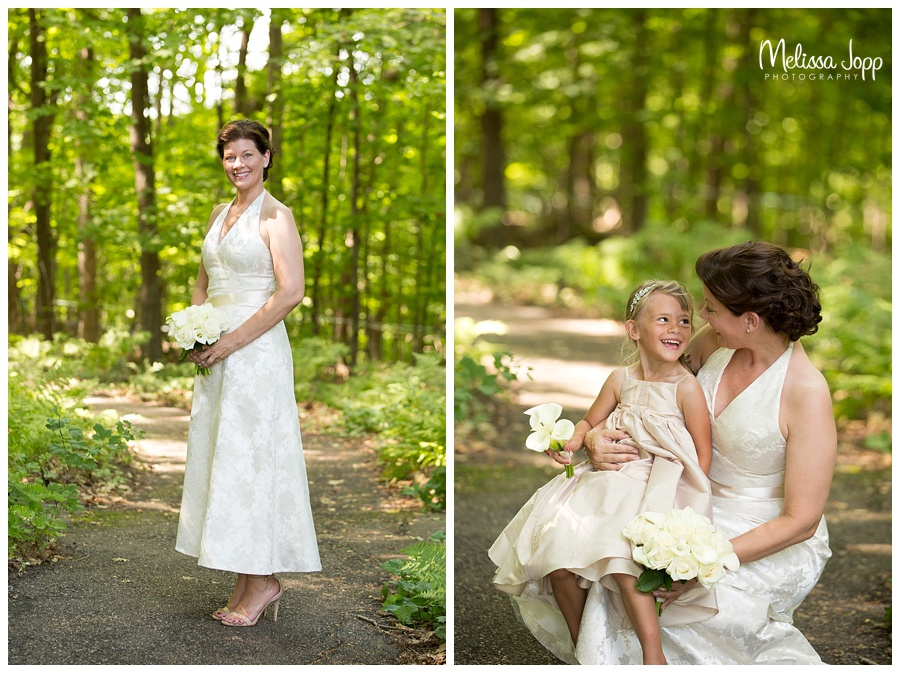 bride and flower girl pictures mn