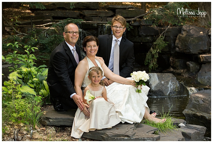 family wedding pictures by waterfall mn