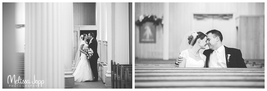 church bride and groom pictures mn