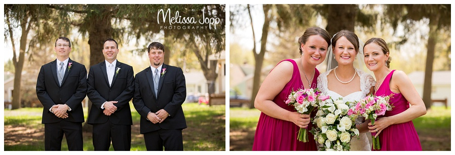 bridesmaid and groomsmen wedding pictures mn