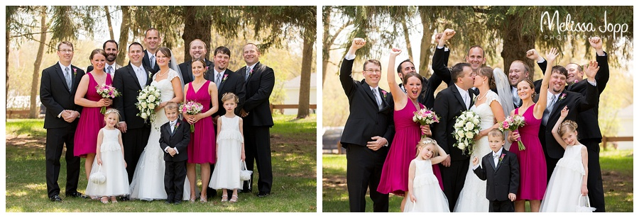 outdoor wedding party pictures winsted mn
