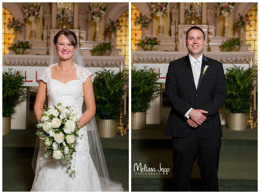 bride and groom church pictures winsted mn