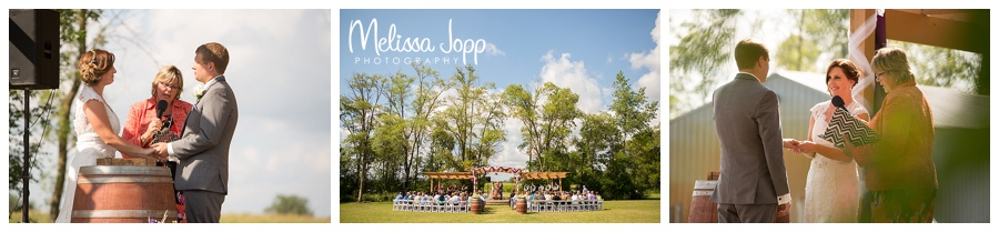 outdoor wedding ceremony pictures hutch mn